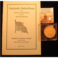 "Booklet ""Patriotic Selections for Patriotic Anniversaries and other Patriotic Meeting Woman's Relief"