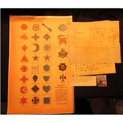 "11"" x 17"" Poster ""Corps Badges of the United States Army 1865""; & Bill for an act to alter boundarie"