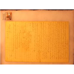THE MOST IMPORTANT DOCUMENT TO BE OFFERED FOR SALE REGARDING THE INDIAN AGENCY NEAR OTTUMWA, IOWA IN