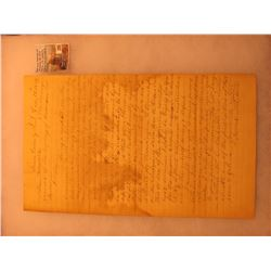 "Dec. 17th, 1839 Linn County, I.T. letter to the ""Honorable Elles Surveyor general of the Territory o"