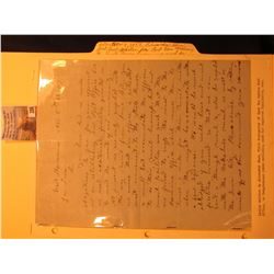 Nov. 8th, 1858 letter written by Alexander Shaw, first Postmaster of East Des Moines Post Office, to