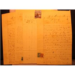 Original Fort building Correspondence at Estherville & Spirit Lake due to the Spirit Lake, Massacre.