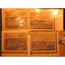 (4) 1875 Lithographs from Anamosa Prison & Lee Co., Fort Madison.