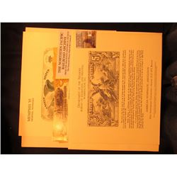 Memphis '85 Souvenir card BEP, Washington, D.C. in original envelope, depict the $10,000 Series 1878