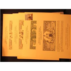 (4) Different Bureau of Engraving & Printing Souvenir Cards with original vignette stype Prints of v