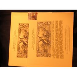 Pair of 82nd Anniversary Convention, August 23-27, 1973, Boston B.E.P. Engraved and Printed Souvenir