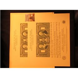 Pair of 1975 Los Angeles, Ca. Dept. of the Treasury Bureau of Engraving and Printing Washington D.C.