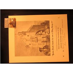 1973 Souvenir Card for 82nd Anniversary Convention of the A.N.A. No. 33 Copyrighted and personally a