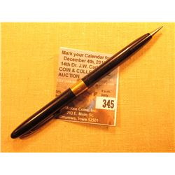 """Sheaffers Made in U.S.A."" Mechanical Pencil with 14K Gold Band, Pen is engraved ""Robert M. Dowling"""