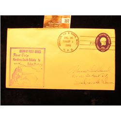 "Postmark ""Aberdeen, S.D. & Baker, Mont. Jul. 30 Trip 1 1955 H.P.O."" on a cover ""Highway Post Office"