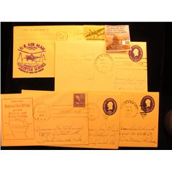 (5) 1945-57 Postmarked First Flight or First Trip U.S. Postal Covers.