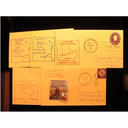 (5) 1952-54 Postmarked First Flight or First Trip U.S. Postal Covers.