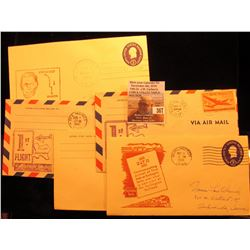 (5) 1946-55 Postmarked First Flight or First Trip U.S. Postal Covers.
