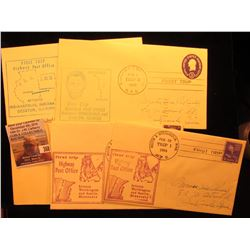 (5) 1952-60 Postmarked First Flight or First or Second Trip U.S. Postal Covers.