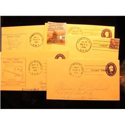 (5) 1952-54 Postmarked First Flight or First or Second Trip U.S. Postal Covers.