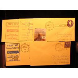 (5) 1950-54 Postmarked First Flight or First or Second Trip U.S. Postal Covers.