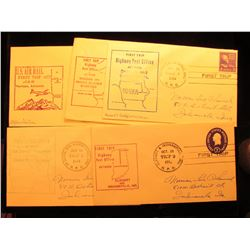 (5) 1952-57 Postmarked First Flight or First Trip U.S. Postal Covers.