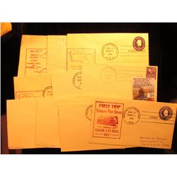 (10) 1950-56  Postmarked First Flight or First Trip U.S. Postal Covers.