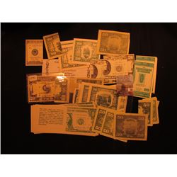 Group of Advertising Scrip, Novelty items, and etc. All currency related.