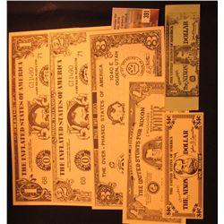 Set of 6 Campaign & Advertising Scrip, Nixon era.