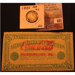 "July 24, 1924 National Certificate Corporation Cash Discount Voucher ""Coca Cola Harrisburg, Pa."" (ve"