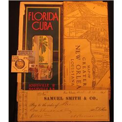 """Florida Cuba Louisville & Nashville R.R."" Brochure; 1931 Map of Greater New Orleans, Louisiana; Oct"