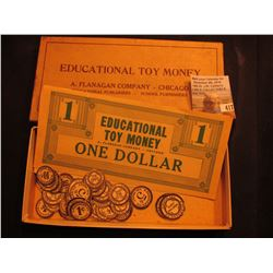 "Original box ""Educational Toy Money A. Flanagan Company-Chicago Educational Publishers - School Furn"