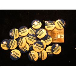 "(23) Political Pin-backs ""Stevenson Kefauver"", most likely replicas."