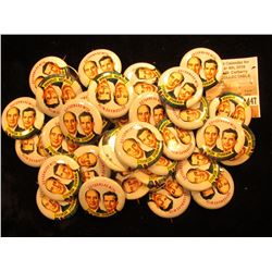 "Large Group of (maybe 50) Political Pin-backs, ""Go Forward with Stevenson Sparkman"", most likely rep"