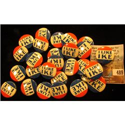 "Group of  (maybe 25-50) 1952 ""I Like Ike"" Political Pin-backs, most likely replicas."