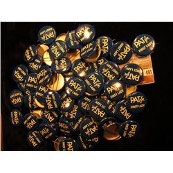 "Large Group of (maybe 50-100) Political Pin-backs, 1960 ""Pat for First Lady (Nixon)"", most likely re"