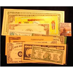 (10) Different Advertising Currency Scrip Bank notes, All CU.