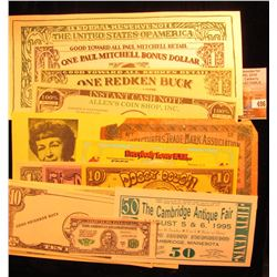 (16) Different pieces of Scrip including Doggy-Dough, Advertising, Universal Coupons dating back to
