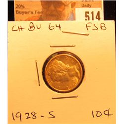 1928 S Mercury Dime Choice BU FSB