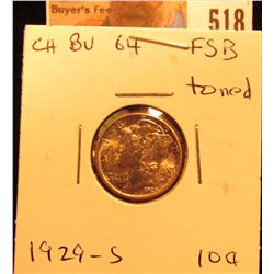 1929 S Mercury Dime Choice BU FSB