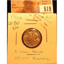 1930 P Mercury Dime Choice BU FSB