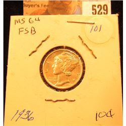 1936 P Mercury Dime Choice BU FSB