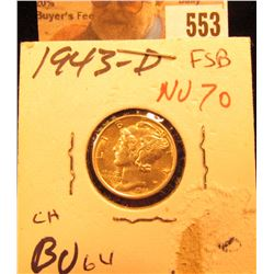 1943 D Mercury Dime Choice BU FSB