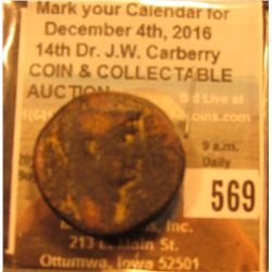41-54 A.D. Roman AE24 of Claudius. Thick copper, Antioch, Syria. SNG. Cop.151