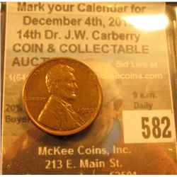 1922 D Lincoln Cent, Brown AU. Very scarce this nice.