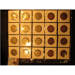 20-Pocket Plastic page with (20) Great Britain Coins