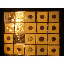 (2) 20-Pocket Plastic pages with (28) different U.S. Coins including Silver. Dates back to 1865.