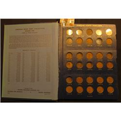 1909-1940 Partial Set of Lincoln Cents in a Deluxe Whitman Album. Lots of descent coins in this coll