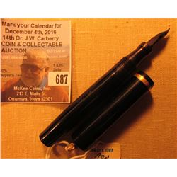 """Conklin Toledo, Ohio"" black cased Fountain Pen."