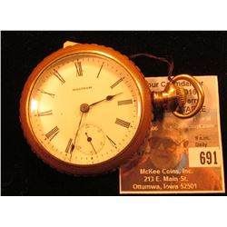 """American Waltham Watch Co."" Lever-set Pocket Watch with ""Montauk"" Open-faced gold-filled case, move"