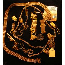 Gold-filled parts for a Watch Chains and fobs.