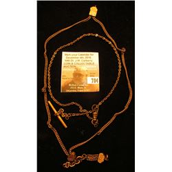 (2) Old Gold-filled Watch Chains.