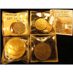 1975 Jamaica 8 pc. Type Set of Coins. One Cent to One Dollar. All Gem BU.
