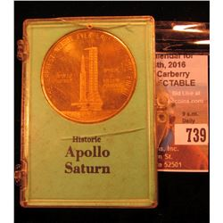 """Apollo Saturn The Largest Weight Ever Launched from Earth Approx. 6 Million Pounds"", 39 mm, Brass,"
