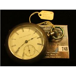 "Elgin National Watch Co. Open-faced Pocket Watch, Case marked ""Dueber Coin (silver) 140533"" Movement"